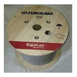 Carrete 305MT Cable FTP Cat6A Interior Gris Furukawa 23AWG Gigalan LSZH CMR 100% Cu Unifilar