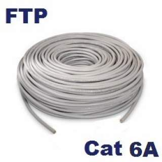 Rollo 100MT Cable FTP Cat6A Interior Gris Furukawa 23AWG Gigalan Augmented CMR 100% Cu