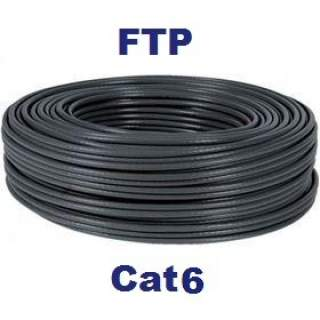 Rollo 50MT Cable FTP Cat6 Exterior Negro Nexxt 100% Cu 4 Pairs BK CMX 23AWG