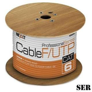 Carrete 305MT Cable FTP Cat6 Exterior Nexxt Negro 100% Cu Unifilar 4 Pairs Cat6 BK CMX Type